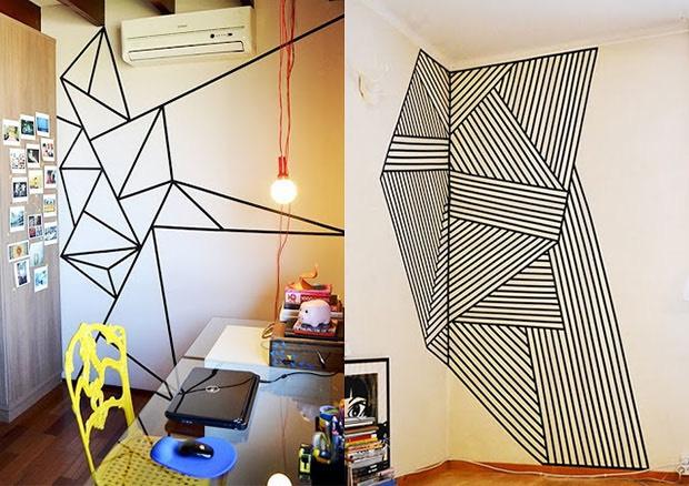 DIY: Decore Ambientes Com Fita Isolante