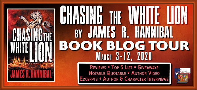 Chasing the White Lion book blog tour promotion banner