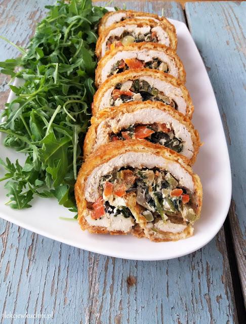 Rolada z kurczaka z serem i warzywami przepis