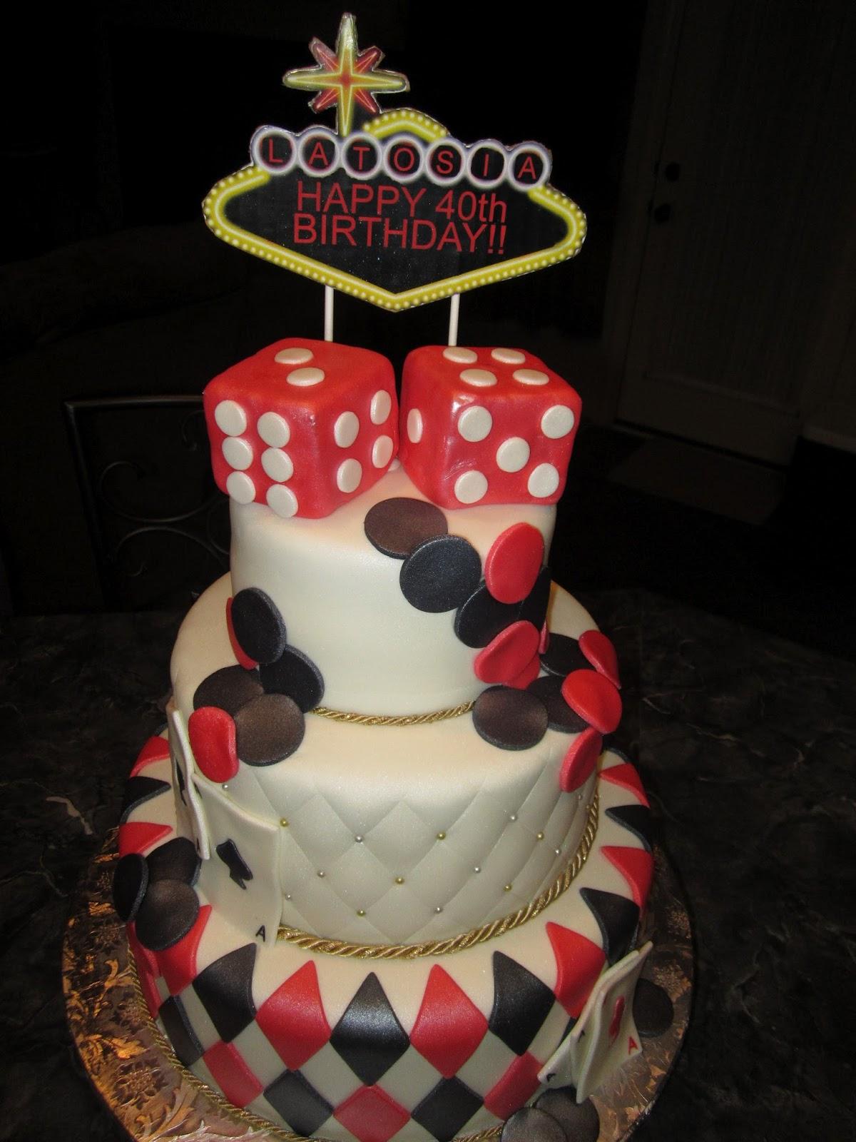 Mymonicakes Casino Night Themed Cake