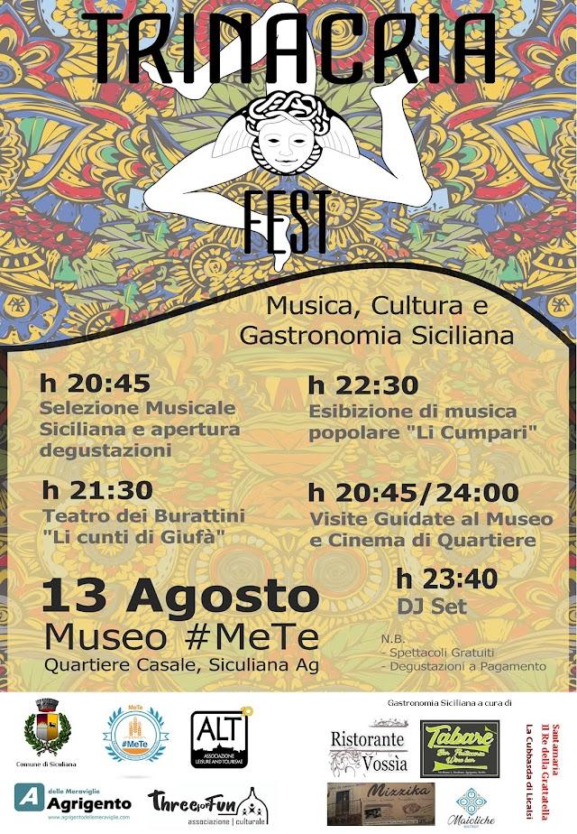 """Siculiana, ecco il """"Trinacria Fest"""" - cultura, musica e gastronomia siciliana. Programma completo"""