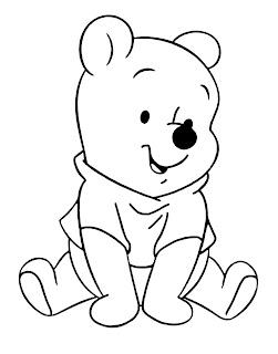 Winnie Pooh para colorear bebe