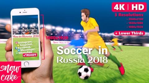 قالب افتر افكت رياضي لكاس العالم بروسيا 2018 | ادوبي افتر افكت CC 2014 فأعلى
