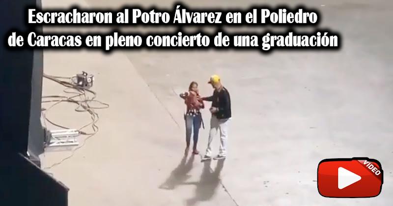 Escracharon al Potro Álvarez en el Poliedro de Caracas en pleno concierto