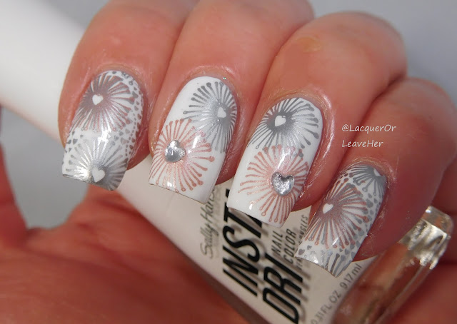 UberChic Beauty Love & Marriage 04 over Sally Hansen Insta-Dri White On
