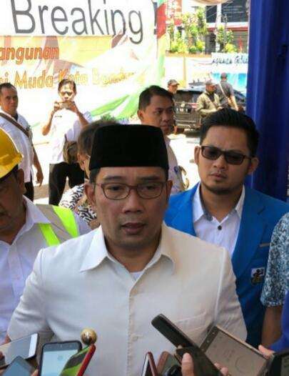 Ketua DPD KNPI Kota Bandung Hadiri Ceremony Ground Breaking Pembangunan Gelanggang Generasi Muda