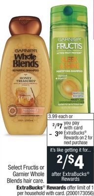 Garnier Fructis or Whole Blends Hair Care