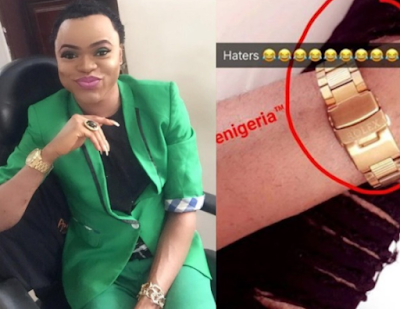 Freeze calls out Bobrisky for wearing a fake Rolex wristwatch