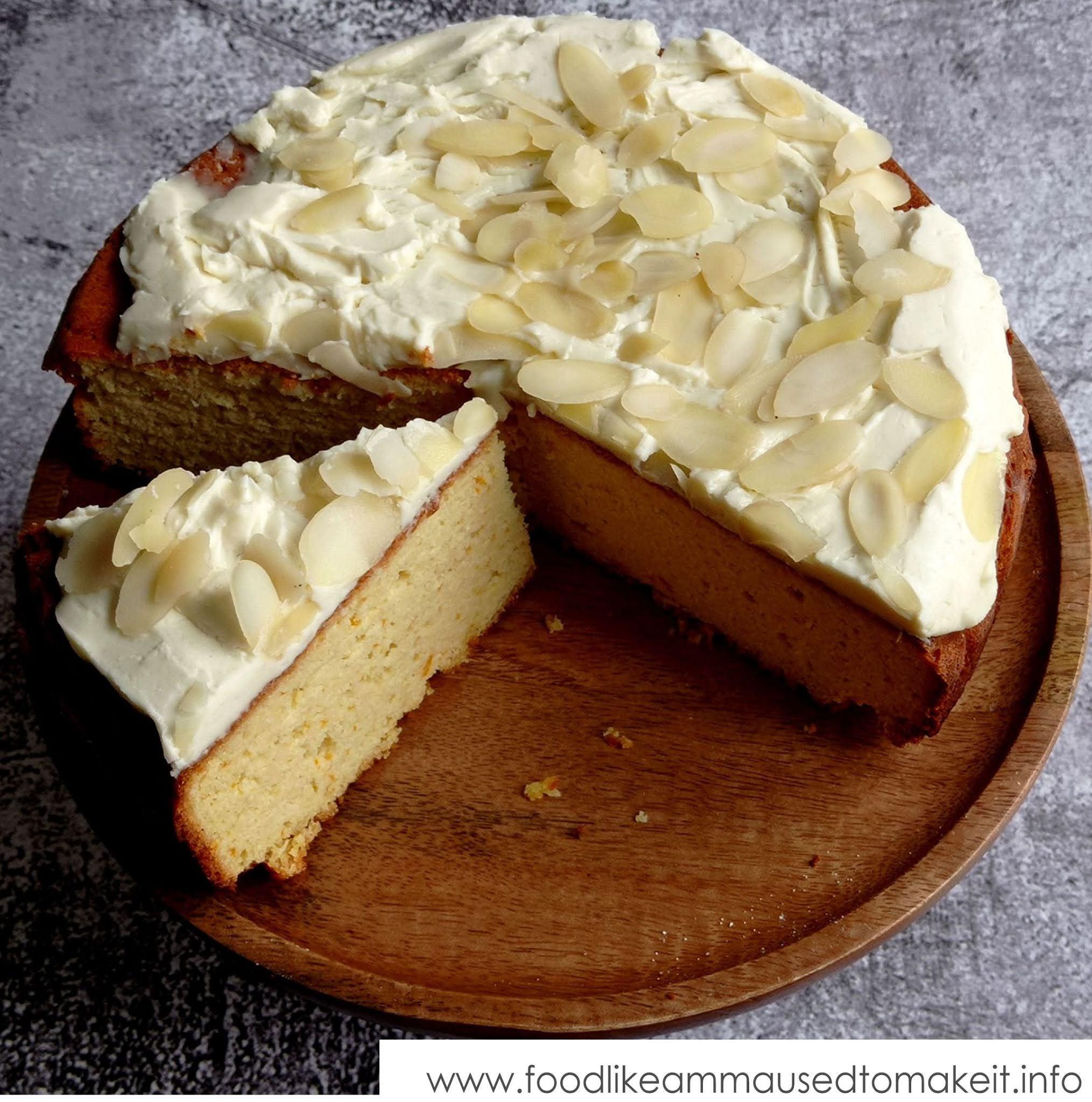 Whole Orange Almond Cake with Cardamom