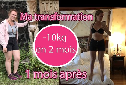 Bilan perte de poids 10kg  / 1 mois après