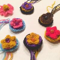 ボタンみたいなお花モチーフの編み図