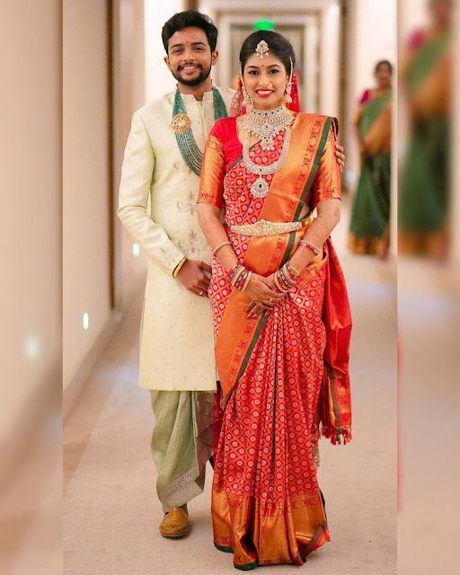 Beautiful Couple in Wedding Jewellery
