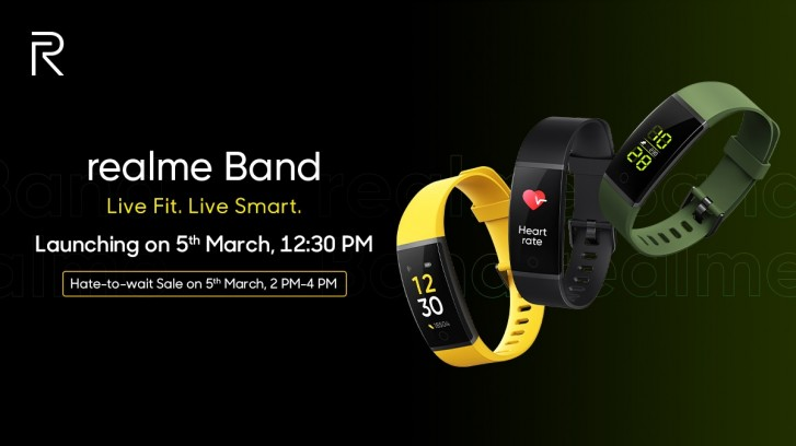 The Realme Band smart bracelet starts with a battery that supports 10 days of age
