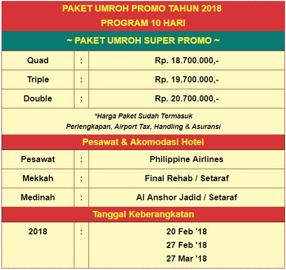 Paket Umroh Promo Maret 2018