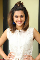 Taapsee Pannu in cream Sleeveless Kurti and Leggings at interview about Anando hma ~  Exclusive Celebrities Galleries 048.JPG