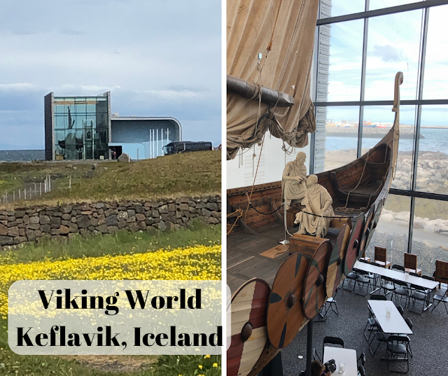 Exploring Viking settlement and the ship  Íslendingur at Viking World in Keflavik, Iceland
