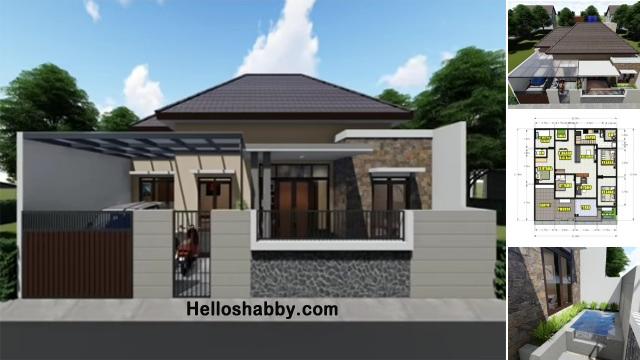 Desain Rumah Modern Terbaru 12 X 12 M Dengan 5 Kamar Tidur Dan Kolam Ikan Tampil Keren Di 2021 Helloshabby Com Interior And Exterior Solutions