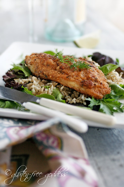 Pan fried catfish that is gluten free and dairy free delicious