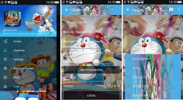 Kumpulan BBM MOD Doraemon Apk [BBM MOD Base 3.3.1.24] Full ...