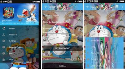 BBM Mod Doraemon Keren