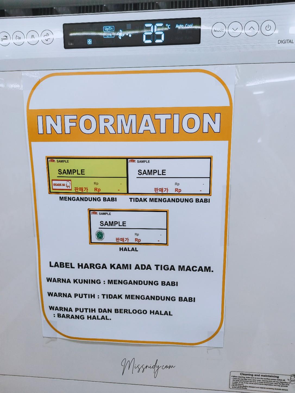 label halal makanan k-mart