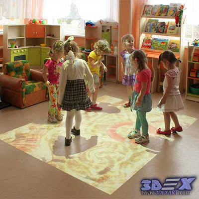 interactive floor projector, interactive games, live systems, interactive kids games