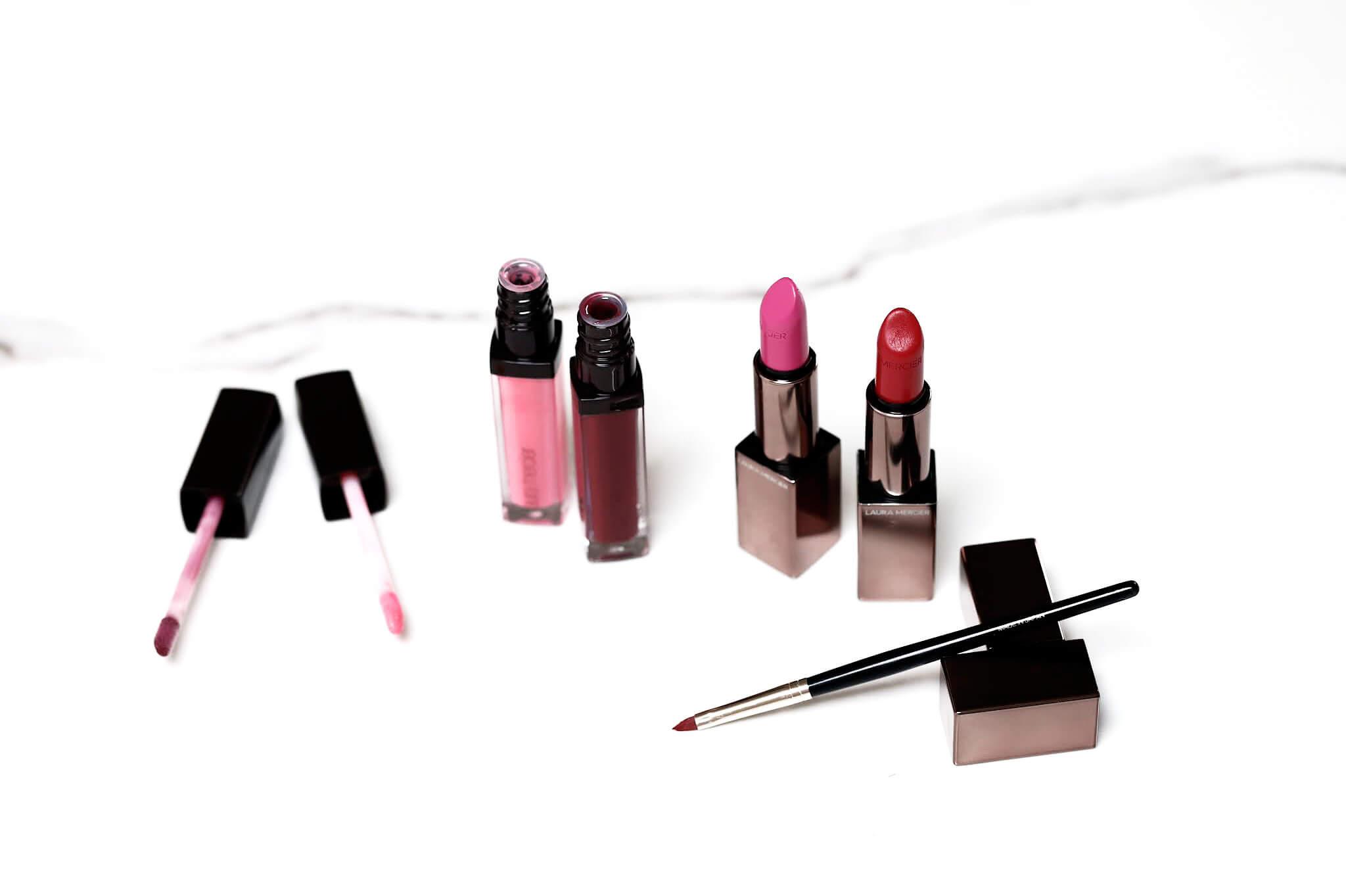 Laura Mercier Rouge Essnentiel Lèvres Glacées Pink Pop Black Cherryrouge ultime classique pink