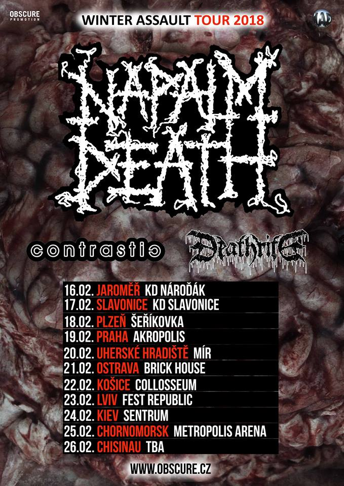 NAPALM DEATH WINTER ASSAULT TOUR 2018
