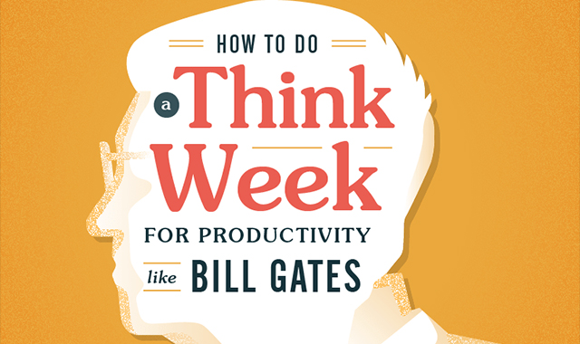 How to think like Bill Gates ' week for productivity #infographic
