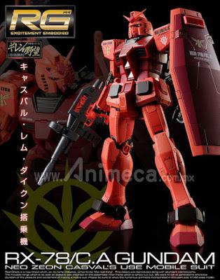 Gundam RX-78/C.A Casval Custom Real Grade (RG) 1/144 Model Kit Mobile Suit Gundam