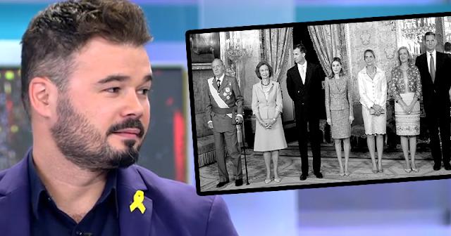 Contundente mensaje del diputado republicano Gabriel Rufián contra la monarquía