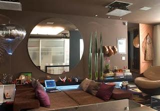 foto de Espelho Decorativo Redondo com lapidação reta