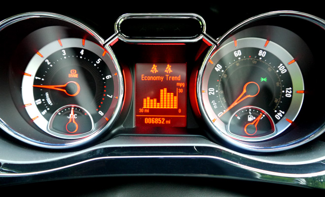 Vauxhall Adam instrument panel