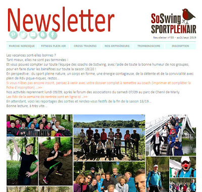 Newsletter club de sport Marly-le-roi 78