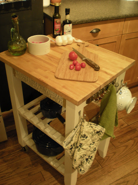 Designdreams by anne ten easy ikea hacks before after for Bekvam kitchen cart