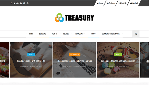 Treasury blogger theme