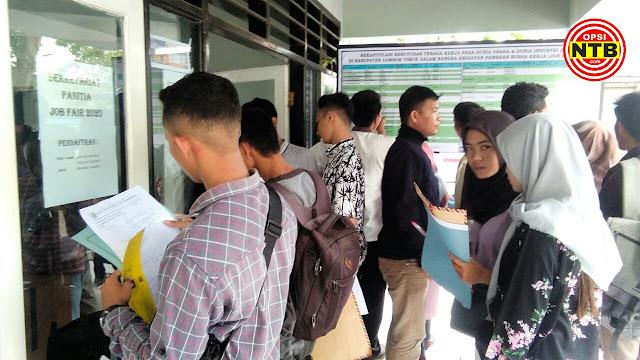 Pendaftaran Job Fair 2020 Ditutup, Disnaker Lotim Tampung 1.107 Pelamar