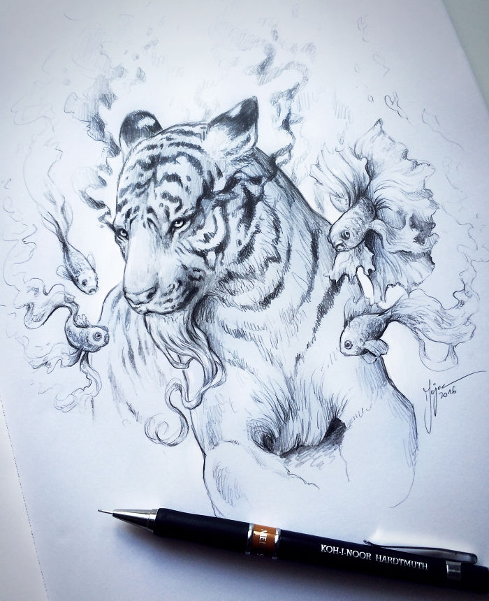 12-Tiger-Jonas-Jödicke-jojoesart-Fantasy-Animal-Drawings-with-Souls-of-Nature-www-designstack-co