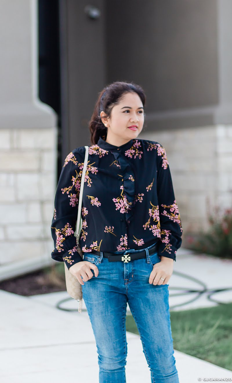 petite style | everyday look | floral top