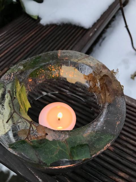 DIY EIslaternen im Winter Garten 3 Jules kleines Freudenhaus