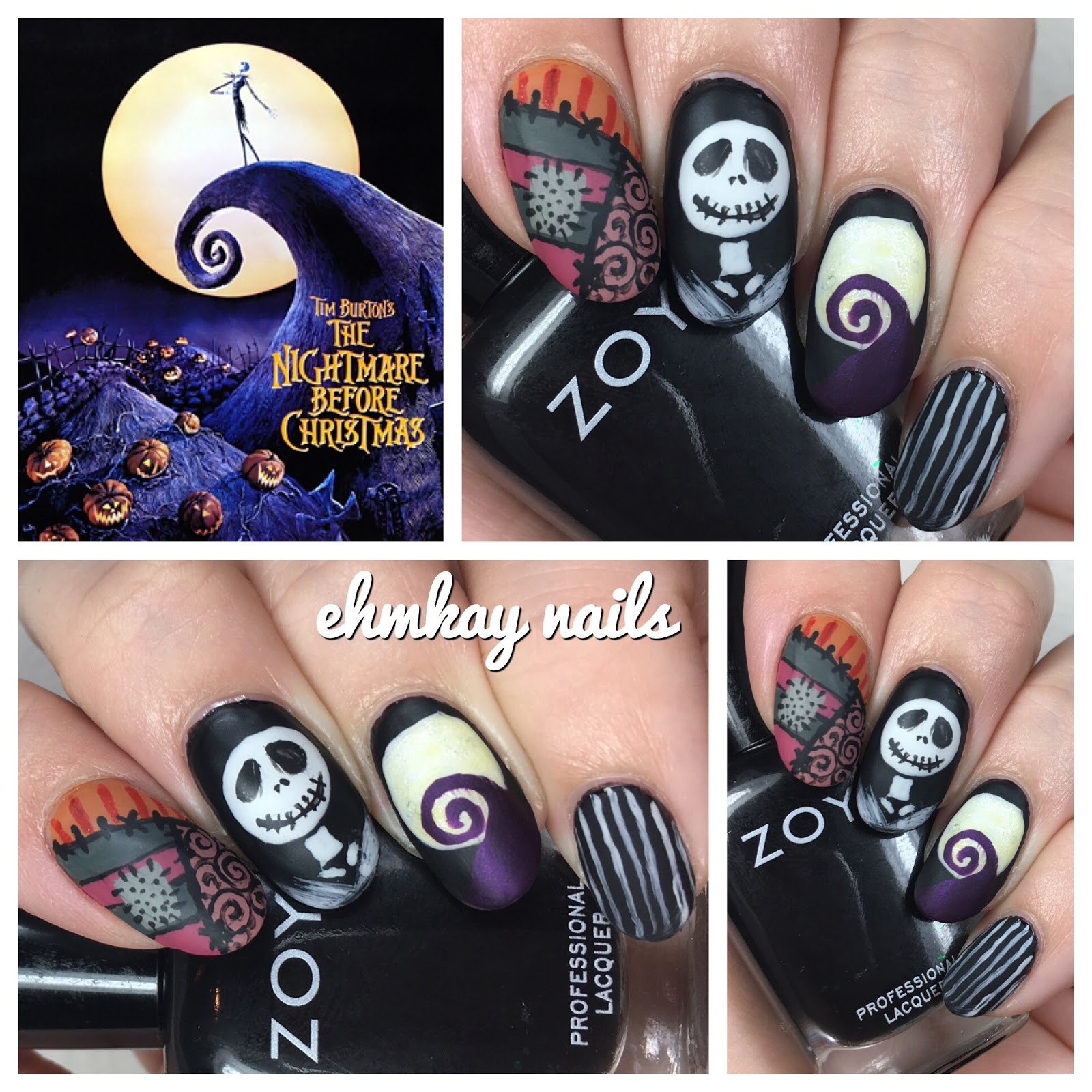 13 days of halloween nail art nightmare before christmas art