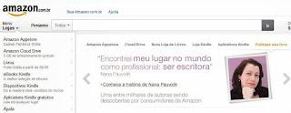 Nana Pauvolih é destaque em autopublicação no site da loja Amazon Brasil