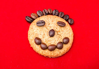happy cookie face to remind us to keep our writing light and humurous