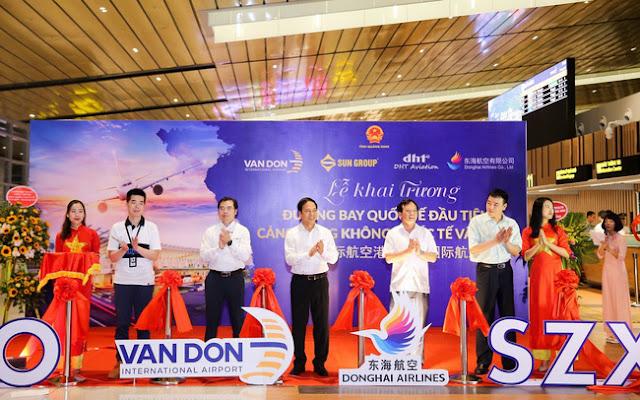 Sân bay Vân Đồn đón chuyến bay quốc tế đầu tiên.