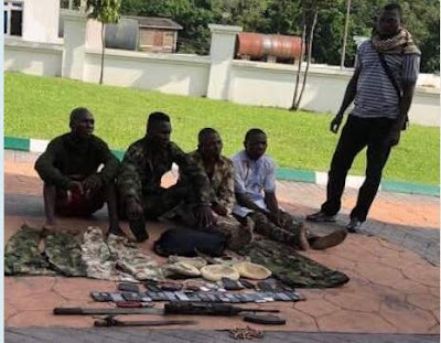 Armed Robbers Operating In Military Outfit Arrested