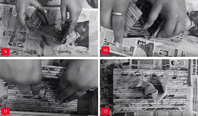 Cara Membuat Tempat Tisu dari Koran Bekas