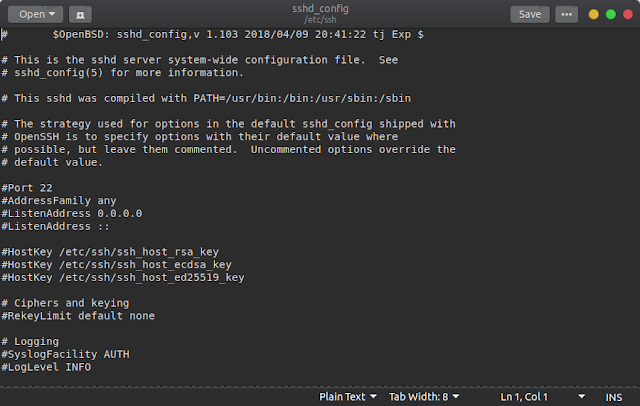 konfigurasi ssh