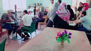 مستقبل وطن يعالج اكثر من 250 حالة فى قافلة للعيون بمدينة بيلا بكفرالشيخ