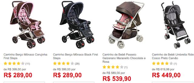 ofertas carrinho para bebê