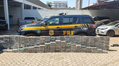 PRF apreende 557 quilos de cocaína em MT; carga é de R$ 70 mi